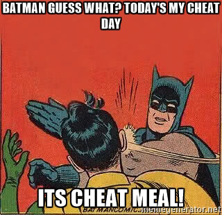 Don't let a cheat MEAL spiral into a cheat DAY!!!